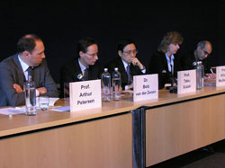 Allison Macfarlane with (l to r), Arthur Petersen, Bob van der Zwaan, Tatsu Suzuki and Bijan Khajepour.