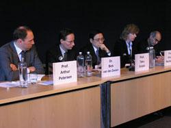 Allison Macfarlane with (l to r), Arthur Petersen, Bob van der Zwaan, Tatsu Suzuki and Bijan Khajepour.