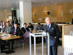 Amb. Rogelio Pfirter, Director General of the Organization for the Prohibition of Chemical Weapons, gives a luncheon address at the 58th Pugwash Conference