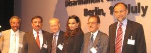 Hon. S.A. Pasha MP, Prof. A. Mattoo, Lt.Gen. (ret) T. Masood, Hon. Sherry Rehman MP, Hon. S. Soz MP; Hon. A. Iqbal Chaudhry MP