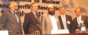 H.E. M. Stanekzai, Mr. M. Kobler, Mullah A.S. Zaeef, Amb. W. Taylor, Amb. M. Steiner