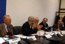 Photo:  Amb. Sergey Batsanov, Amb. François Nicoullaud, Amb. Ali Asghar Soltanieh, Prof. Paolo Cotta-Ramusino, Mr. Jean-Paul Chagnollaud, Sir Richard Dalton.