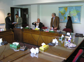 (right to left): Saideh Lotfian, Bill Miller, Paolo Cotta-Ramusino with Dr. Mahmood Vaezi, Deputy of Foreign Policy, Center for Strategic Research