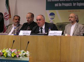 Paolo Cotta-Ramusino, Pugwash Secretary General and (on right) Amb. Alireza Sheikh Attar
