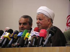 Ayatollah Akbar Hashemi Rafsanjani, Chairman, Expediency Council of the Islamic Republic of Iran