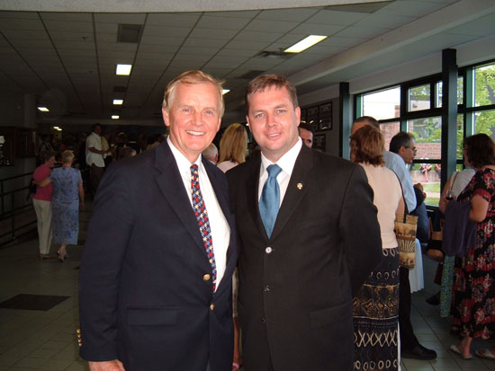 Patrick Boyer and Nova Scotia Premier Rodney MacDonald