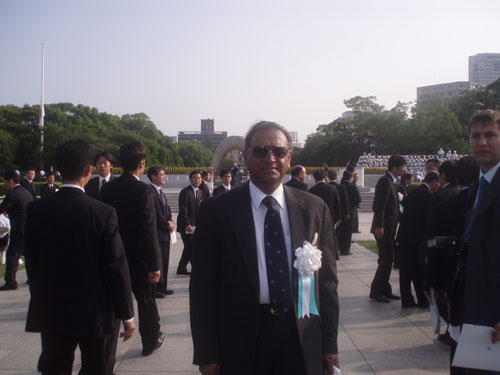 Jayantha Dhanapala, President, Pugwash Conference on Science and World Affairs at the 63rd Hiroshima Peace Memorial Ceremony on 6th August 2008