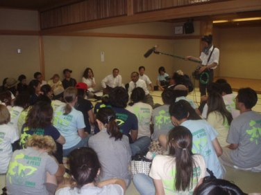 "Amb Jayantha Dhanapala in discussion with participants of a summer programme titled ""Hiroshima & Peace"" at the Hiroshima University on 6th August 2008"