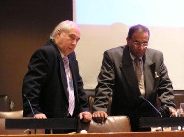 Amb Sergio Duarte and Pugwash President Amb Jayantha Dhanapala