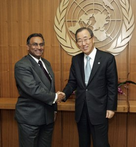 Pugwash President Jayantha Dhanapala and UN Secretary General Ban Ki-moon