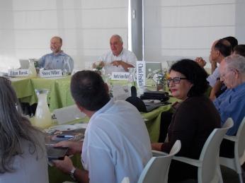 Steve Miller, Paolo Cotta-Ramusino, Group, Efraim Halevy, Sharon Dolev