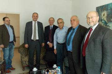 Roland Friedrich, Husam Zomlot, Cliff Kupchan, former Prime Minister Salam Fayyad, Paolo Cotta-Ramusino, Steve Miller