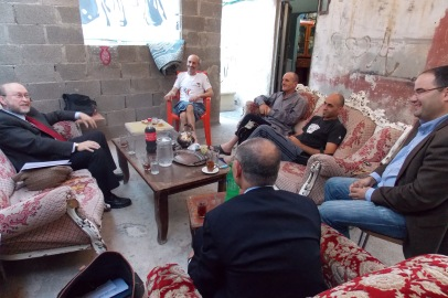 Meeting with local business people in Ramallah