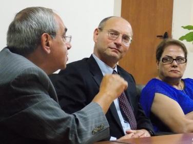 Cliff Kupchan, Pugwash Council member, at the Pugwash Ramallah Roundtable
