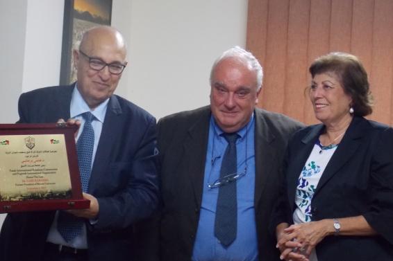 Honoring Gabi Baramki - Nabil Shaath, Paolo Cotta Ramusino, Haifa Baramki