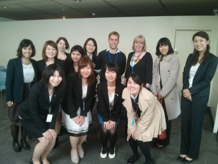 Pugwash Executive Director Sandra Ionno Butcher with ISYP representatives meet with Japanese Students in New York, May 2014