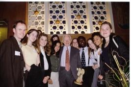Former Pugwash President Jo Rotblat with Student Pugwash USA event in New York, April 1996