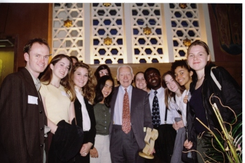 Former Pugwash President Jo Rotblat with Student Pugwash USA event in New York, April 1996