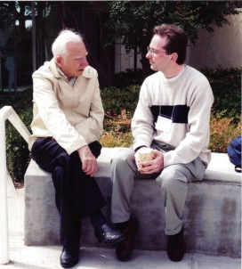Former Pugwash President Jo Rotblat and ISYP Paul Guinnessy in San Diego, 1999