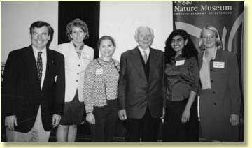 Student Pugwash USA leaders with former Pugwash President Jo Rotblat