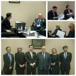 Meeting Deputy Minister Masayoshi Hamada.