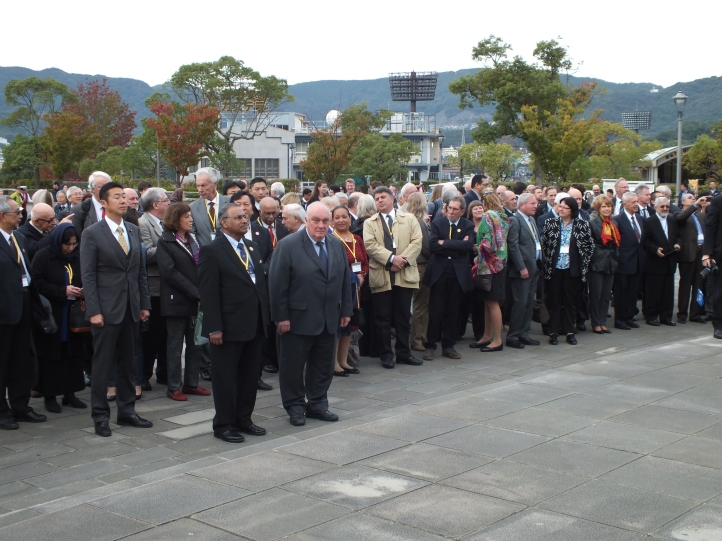 Pugwash Ceremony at the Peace Statue