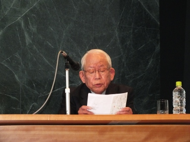 Mr. Yoshiro Yamawaki, Nagasaki Hibakusha