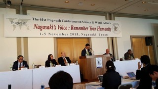 "Press conference for the Pugwash Council ""Nagasaki Declaration"""
