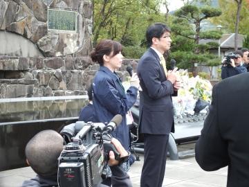 Mayor Taue of Nagasaki at the opening ceremony