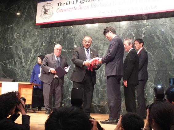 Ceremony of the transfer of Pugwash Nobel Peace Symbols