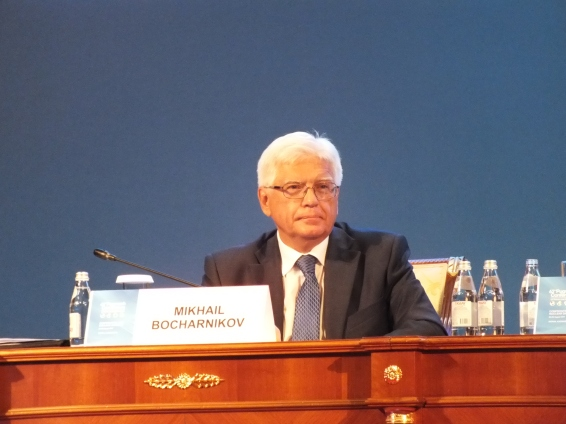 Mikhail Bocharnikov (Russia), Ambassador of the Russian Federation to Kazakhstan, delivers speech on behalf of Sergey Lavrov, Foreign Minister of the Russian Federation