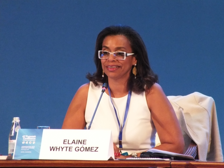 Elaine Whyte Gómez (Costa Rica), President of the UN Conference to negotiate a legally binding instrument to prohibit nuclear weapons, leading to their total elimination