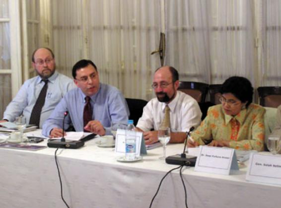 Dr. Steven Miller, Dr. Tariq Rauf, Dr. Harald Mueller, and Dr. Dewi Fortuna Anwar