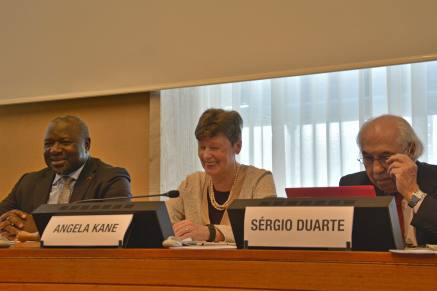 (L-R) Lassina Zerbo, CTBTO Executive Secretary; Angela Kane, CTBTO Group of Eminent Persons; Sergio Duarte, Pugwash President