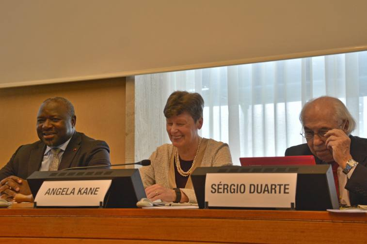 (L-R) Lassina Zerbo, CTBTO Executive Secretary; Angela Kane, CTBTO Group of Eminent Persons; Sergio Duarte, Pugwash President