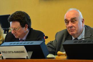 (L-R) William Potter, CNS Monterey; Paolo Cotta-Ramusino, Pugwash Secretary General