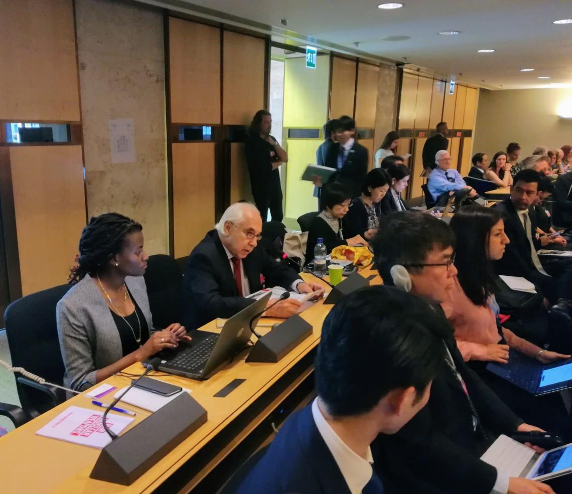 Sergio Duarte addresses the PrepCom NGO session