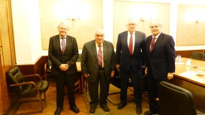 (L-R) Götz Neuneck, Paolo Cotta-Ramusino, S.A. Ryabkov, Peter Jenkins